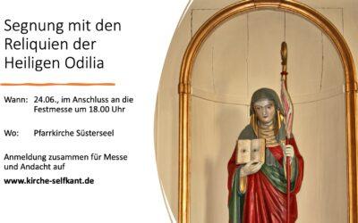 Segung mit den Reliquien der Heiligen Odilia